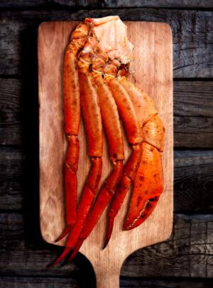 Pecho de cangrejo rojo